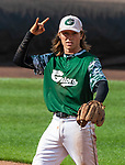 HARTFORD, CT-062520JS02—Former Housatonic and UConn standout Willy Yahn (6) plays shortstop for the Great Falls Gators in the Connecticut Twilight League game  against the Terryville Black Sox Thursday at Dunkin Donuts Park in Hartford. <br /> Jim Shannon Republican-American