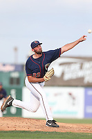 Kent Emanuel #22 of the Lancaster JetHawks pitches against the Inland Empire 66ers during a playoff game at The Hanger on September 7, 2014 in Lancaster, California. Lancaster defeated Inland Empire, 5-2. (Larry Goren/Four Seam Images)