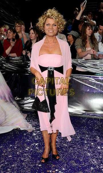 VICKY ENTWISTLE.Coronation Street.The British Soap Awards 2008 BBC Television Centre, Wood Lane, London, England..May 3rd, 2008.full length pink dress black sash belt ribbon bag purse entwhistle.CAP/CAN.© Can Nguyen/Capital Pictures