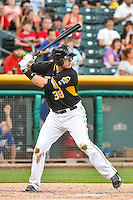 C.J. Cron (38) of the Salt Lake Bees at bat against the Las Vegas 51s in Pacific Coast League action at Smith's Ballpark on June 25, 2015 in Salt Lake City, Utah. Las Vegas defeated Salt Lake 20-8. (Stephen Smith/Four Seam Images)