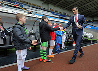 of Crystal Palace arrives before the Barclays Premier League match between Swansea City and Crystal Palace at the Liberty Stadium, Swansea on February 06 2016