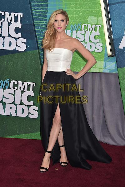 10 June 2015 - Nashville, Tennessee - Brittany Snow. 2015 CMT Music Awards held at Bridgestone Arena. <br /> CAP/ADM/LF<br /> &copy;Laura Farr/AdMedia/Capital Pictures