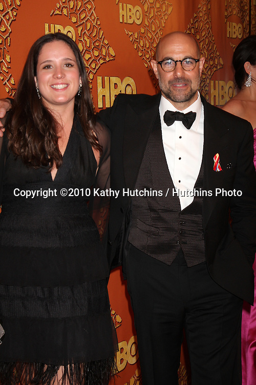 Stanley Tucci & Stepdaughter.arriving at the 67th Annual Golden Globe Awards Official HBO After Party.Beverly Hilton Hotel.Beverly Hills, CA.January 17, 2010.©2010 Kathy Hutchins / Hutchins Photo....