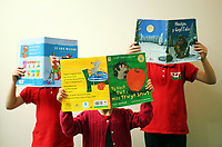 Pictured: Alice Morgan's children reading books. Friday 09 June 2017<br /> Re: Alice Morgan (NOT HER REAL NAME) who has spoken about her experience sending her children to Llangennech Primary School in Carmarthenshire Wales, which will be turned into a Welsh only language medium from a bilingual one.
