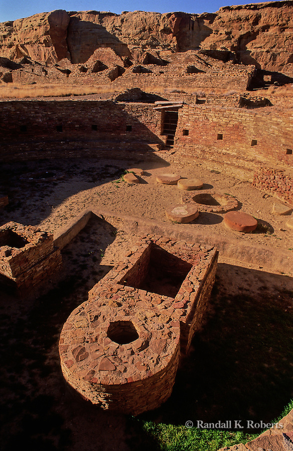 Kiva inside Casa Bonita ruin, Chaco Culture National Historical Park, New Mexico