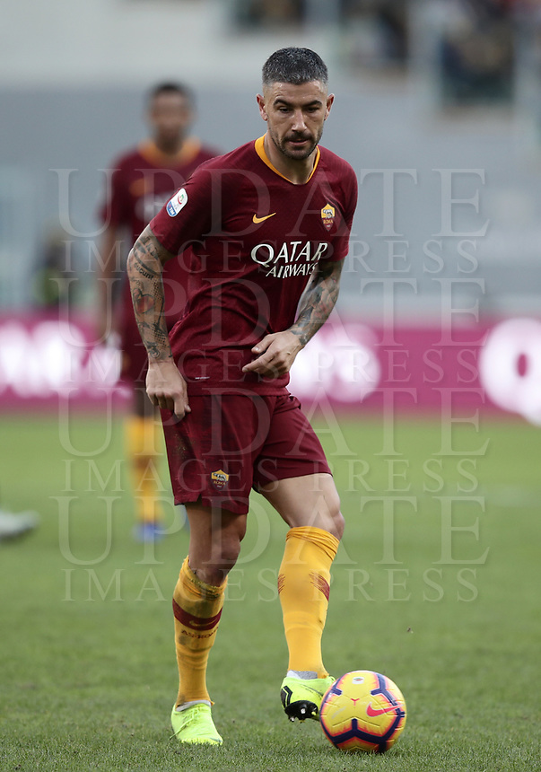 Football, Serie A: AS Roma - Sampdoria, Olympic stadium, Rome, November 11, 2018. <br /> Roma's Alexandar Kolarov in action during the Italian Serie A football match between Roma and Sampdoria at Rome's Olympic stadium, on November 11, 2018.<br /> UPDATE IMAGES PRESS/Isabella Bonotto