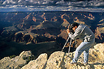 Matt Purciel at the Grand Canyon from Yavapai Point, South Rim, Grand Canyon National Park, Arizona