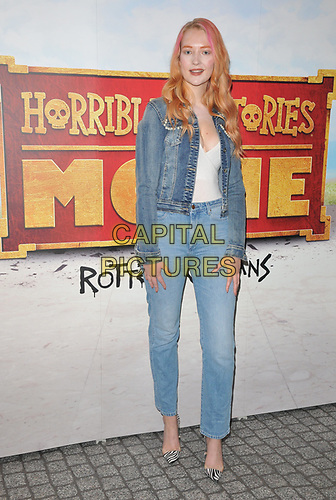 """Victoria Clay at the """"Horrible Histories: The Movie - Rotten Romans"""" world film premiere, Odeon Luxe Leicester Square, Leicester Square, London, England, UK, on Sunday 07th July 2019.<br /> CAP/CAN<br /> ©CAN/Capital Pictures"""