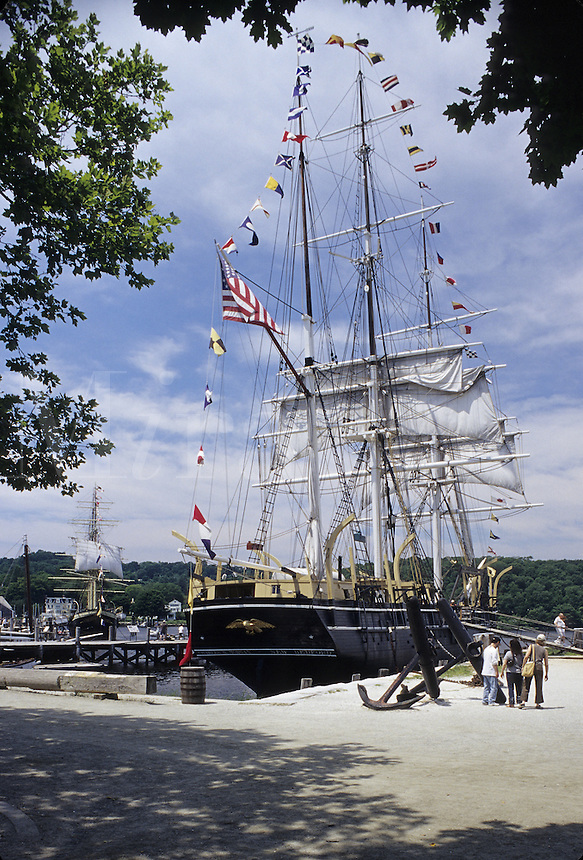 Mystic, Connecticut.The whaler Charles Morgan is one of the big attractions in this historic village