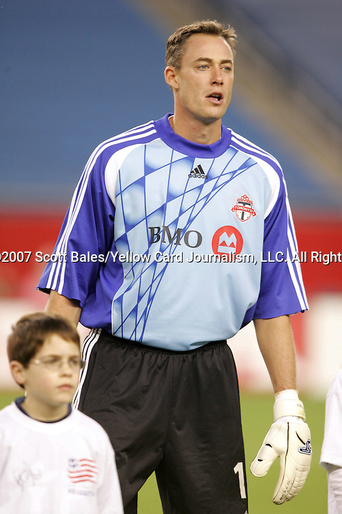 14 April 2007: Toronto goalkeeper Greg Sutton. The New England Revolution defeated Toronto FC 4-0 at Gillette Stadium in Foxboro, Massachusetts in an MLS Regular Season game.