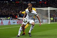 Medhi Benatia of Juventus and Harry Kane of Tottenham Hotspur during Tottenham Hotspur vs Juventus, UEFA Champions League Football at Wembley Stadium on 7th March 2018
