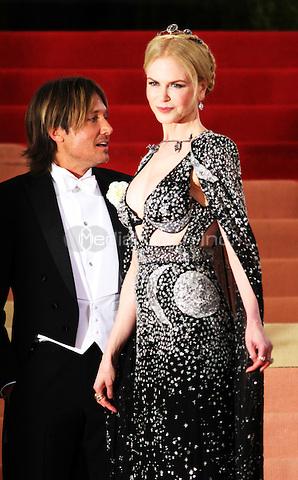 05 02 2016: Nicole Kidman, Keith Urban at Manus X Machina: Fashion In An Age of Technology at Metropolitan Museum of Art in New York. Credit:RWMediaPunch