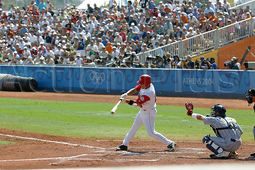 25 August 2004: Action during the third place Baseball game between Canada and Japan at The 2004 Olympic Games, Athens, Greece. Japan beat Canada 11 - 2 Photo: Glyn Kirk/Action Plus...040825 olympics player