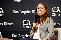 "Chelsea Clinton, the Clinton foundation and bestselling children's author, discusses her latest book, ""Don't Let Them Disappear,"" with Los Angeles Times Culture Critic/Columnist Mary McNamara.at the Los Angeles Times Festival of Books held at the USC Campus in Los Angeles, California on Sunday, April 14, 2019"