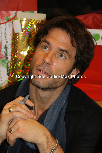 """Days of Our Lives' Shawn Christian celebrates the new book """"Days of our Lives 45 Years"""" with a discussion, Q&A and signing on December 7, 2010 at Barnes and Noble Lincoln Triangle, New York City, New York. (Photo by Sue Coflin/Max Photos)"""
