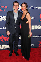 "NEW YORK CITY, NY, USA - MAY 12: Rob Thomas, Marisol Thomas at the New York Screening Of HBO's ""The Normal Heart"" held at the Ziegfeld Theater on May 12, 2014 in New York City, New York, United States. (Photo by Celebrity Monitor)"