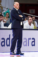 Real Madrid's coach Pablo Laso during match of Liga Endesa at Barclaycard Center in Madrid. September 30, Spain. 2016. (ALTERPHOTOS/BorjaB.Hojas) /NORTEPHOTO.COM
