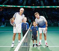Februari 13, 2015, Netherlands, Rotterdam, Ahoy, ABN AMRO World Tennis Tournament, Gilles Muller (LUX) - Stan Wawrinka (SUI)<br /> Photo: Tennisimages/Henk Koster