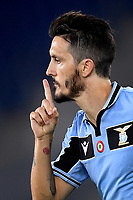 Luis Alberto of SS Lazio (R) celebrates after scoring the goal of 2-1 during the Serie A football match between SS Lazio and ACF Fiorentina at stadio Olimpico in Roma ( Italy ), June 27th, 2020. Play resumes behind closed doors following the outbreak of the coronavirus disease. Photo Antonietta Baldassarre / Insidefoto