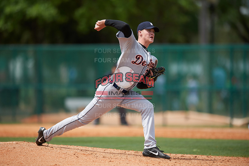 Detroit Tigers pitcher Matt Manning (35) during a minor league Spring Training game against the Atlanta Braves on March 25, 2017 at ESPN Wide World of Sports Complex in Orlando, Florida.  (Mike Janes/Four Seam Images)