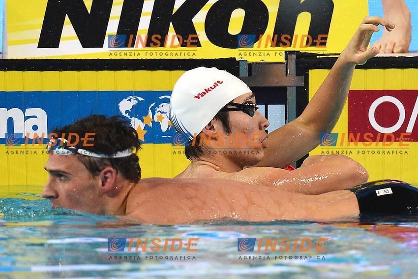 Kazuki Watanabe Japan, Ryan Lochte USA Men's 200m Backstroke ..Istanbul 16/12/2012 Sinan Erdem Dome..World Swimming Championships Short course 25m Nuoto Istanbul..Foto Andrea Staccioli Insidefoto