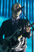 RadioHead at the 2012 Bonnaroo Music Festival in Manchester, Tennessee. June 8, 2012. Credit: Jen Maler / MediaPunch Inc. NORTEPHOTO.COM<br /> NORTEPHOTO.COM