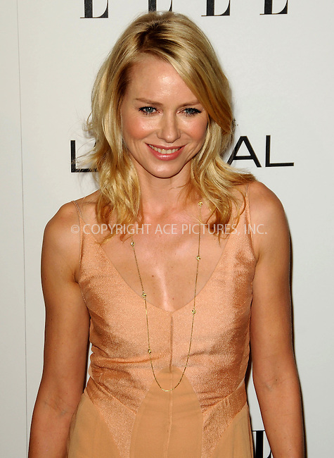 WWW.ACEPIXS.COM . . . . .  ....October 17 2011, LA....Naomi Watts arriving at ELLE's 18th Annual Women in Hollywood Tribute at the Four Seasons Hotel on October 17, 2011 in Los Angeles, California. ....Please byline: PETER WEST - ACE PICTURES.... *** ***..Ace Pictures, Inc:  ..Philip Vaughan (212) 243-8787 or (646) 679 0430..e-mail: info@acepixs.com..web: http://www.acepixs.com