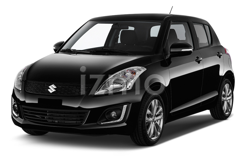 2013 Suzuki SWIFT Grand Luxe @ttraction 5 Door Hatchback 2WD Angular Front stock photos of front three quarter view
