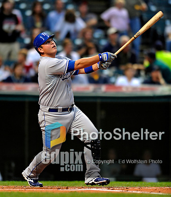 12 September 2008: Kansas City Royals' first baseman Billy Butler in action against the Cleveland Indians at Progressive Field in Cleveland, Ohio. The Indians defeated the Royals 12-5 in the first game of their 4-game series...Mandatory Photo Credit: Ed Wolfstein Photo