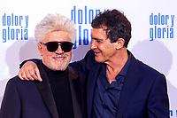 Pedro Almodovar and Antonio Banderas attend the movie premiere of 'Dolor y gloria' in Capitol Cinema, Madrid 13th March 2019. (ALTERPHOTOS/Alconada)<br /> Foto Alterphotos / Insidefoto<br /> ITALY ONLY