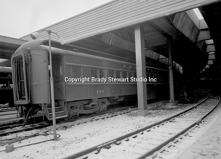 Pittsburgh PA:  View of a Pennsylvania Railroad commuter train at the Penn Station - 1958.