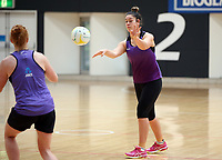 11.10.2017 Silver Ferns Mia Wilson in action during traning ahead of the final Constellation Cup netball match between the Silver Ferns and Australiain Sydney on Saturday. Mandatory Photo Credit ©Michael Bradley.