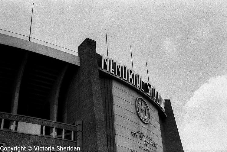 Memorial Stadium in Baltimore, Maryland, 1989. Stadium closed December 14, 1997. (Photo / Victoria Sheridan)