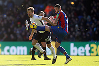 Damien Delaney of Crystal Palace and Harry Kane of Tottenham Hotspur during Crystal Palace vs Tottenham Hotspur, Premier League Football at Selhurst Park on 25th February 2018