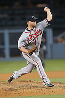 05/26/15 Los Angeles, CA: Atlanta Braves starting pitcher Eric Stults #37 during an MLB game played at Dodger Stadium between the Los Angeles Dodgers and the Atlanta Braves. The Dodgers defeated the Braves 8-0.