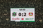 10.03.2019, HDI Arena, Hannover, GER, 1.FBL, Hannover 96 vs Bayer 04 Leverkusen<br /> <br /> DFL REGULATIONS PROHIBIT ANY USE OF PHOTOGRAPHS AS IMAGE SEQUENCES AND/OR QUASI-VIDEO.<br /> <br /> im Bild / picture shows<br /> Spielunterbrechung bei Stand von 0:2 und Schneefall, <br /> <br /> Foto &copy; nordphoto / Ewert