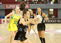 JOHANNESBURG, SOUTH AFRICA - JANUARY 28: Bailey Mes of the Silver Ferns in action during the Netball Quad Series netball match between Diamonds and Silver Ferns at the Ellis Park Arena in Johannesburg. Mandatory Photo Credit: ©Reg Caldecott/Michael Bradley Photography