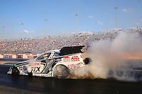 Sep 13, 2013; Charlotte, NC, USA;  NHRA funny car driver John Force during qualifying for the Carolina Nationals at zMax Dragway. Mandatory Credit: Mark J. Rebilas-
