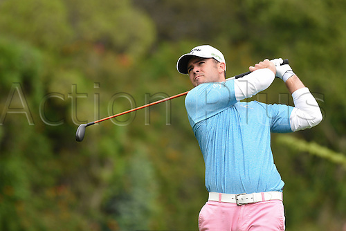 19th Februaru 2017, Pacific Palisades, CA, USA;  Wesley Bryan hits from the fourth hole tee during the final round of the Genesis Open golf tournament at the Riviera Country Club on February 19, 2017.