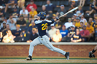 Braden Zarbnisky (26) of the West Virginia Mountaineers follows through on his swing against the Wake Forest Demon Deacons in Game Four of the Winston-Salem Regional in the 2017 College World Series at David F. Couch Ballpark on June 3, 2017 in Winston-Salem, North Carolina. The Demon Deacons walked-off the Mountaineers 4-3. (Brian Westerholt/Four Seam Images)