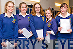 Pobal Scoil Chorca Dhuibhne students Laura Moriarty, Fiona Ní Shé, Maura Murphy, Samantha Getautyte and Nora Begley delighted with their Junior Certificate results on Wednesday morning.