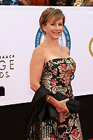 LOS ANGELES - JAN 15:  Gabrielle Carteris at the 49th NAACP Image Awards - Arrivals at Pasadena Civic Center on January 15, 2018 in Pasadena, CA