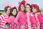 Pink to make the boys wink: Having fun during the Pink Day at St Joseph's Secondary School in Ballybunion on Friday to raise funds for the Marie Keating Foundation were l-r Holly Walsh, Margaret Long, Tara McDonald, Martina O'Sullivan and Ciara Halpin..