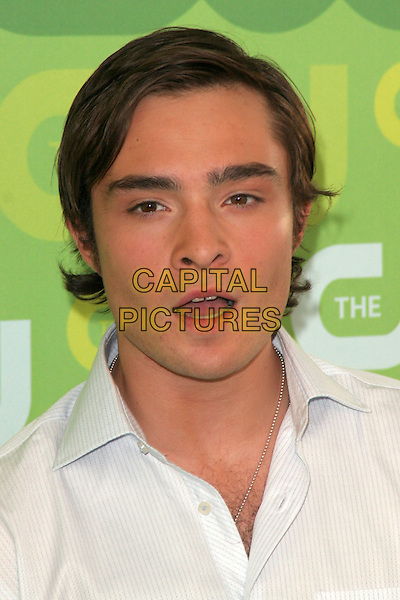 ED WESTWICK.2008 The CW Network Upfront (programming presentation to advertisers).at Lincoln Center, New York, NY, USA, .May 13, 2008..portrait headshot white shirt mouth open funny.CAP/LNC/KER.©LNC/Capital Pictures