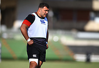 Ellis Genge (Leicester Tigers) during the England Rugby training session at  Jonsson Kings Park Stadium,Durban.South Africa. 05,06,2018 Photo by (Steve Haag)