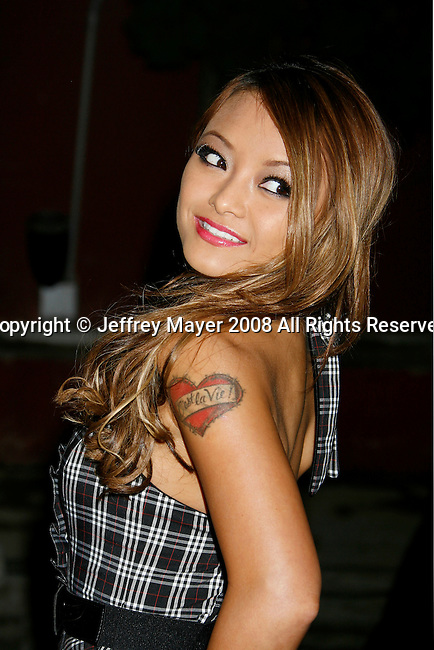 WESTWOOD, CA. - August 14: TV personality Tila Tequila  arrives at the Apple Lounge Grand Opening on August 14, 2008 in West Hollywood, California.