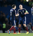 Scott Brown at end congratulating Andrew Robertson