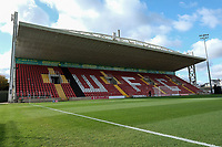 General view of the ground ahead of Woking vs Bury, Emirates FA Cup Football at The Laithwaite Community Stadium on 5th November 2017