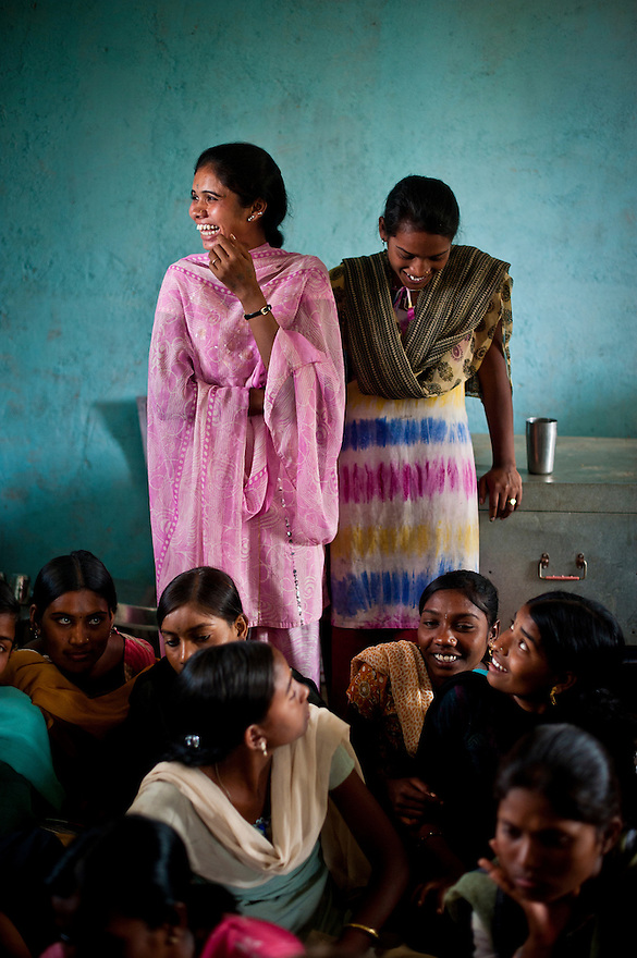 Indian women attend a SHG meeting in the Jhatala village in Ghatanji Block, Yavatmal district in the central Indian state of Maharashtra on the 23rd of march 2011.