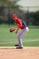 Washington Nationals Neftali Soto (10) during practice before a minor league Spring Training game against the Detroit Tigers on March 21, 2016 at Tigertown in Lakeland, Florida.  (Mike Janes/Four Seam Images)